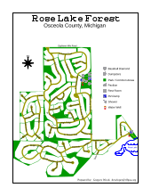 Map of Rose Lake Forest
